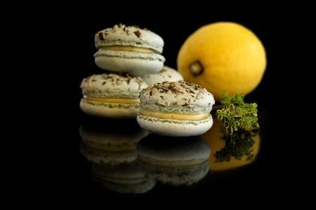 Macarons mit Thymian und Zitrone