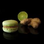 Macaron mit Ingwer und Limette