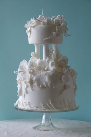 Weiße Torte aus Fondant