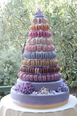 Macarons mit Hortensiendeko