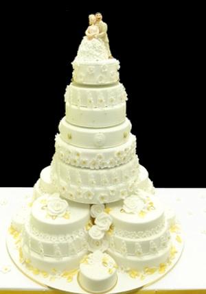 Große Hochzeitstorte